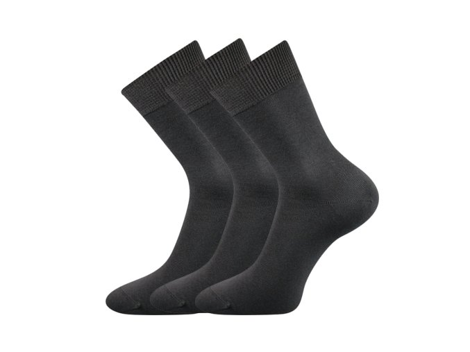 Zdravotní ponožky 3 kusy v balení VoXX Eduard tmavě šedá