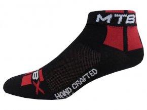 Sportovní Ponožky NOVIA Cyklo MTB čerevená