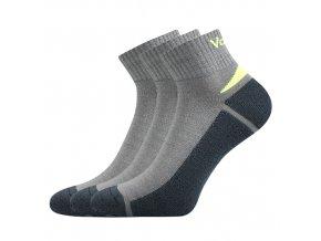 Ponožky VoXX Aston světle šedá 3 kusy v balení