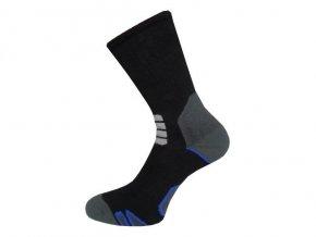 Sportovní Ponožky NOVIA Thermo černomodrá