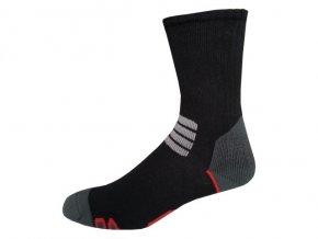 Sportovní Ponožky NOVIA Thermo černočervená