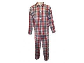 Pánské Pyžamo Popelín FOLTÝN PI06 červenočerná kostka