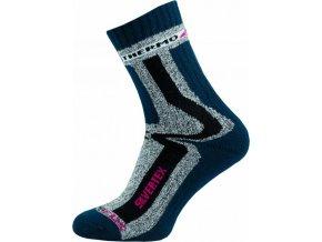 Sportovní Ponožky NOVIA Silvertex Thermo 02 tamvě modré