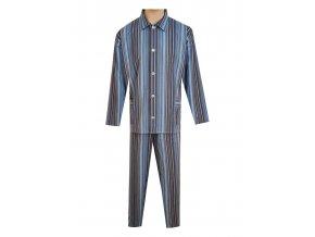 Pánské Pyžamo Plátěné FOLTÝN PP07 modročerný proužek