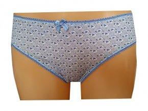 Dámské kalhotky MOLVY MD-792-KEU modrý abstraktní potisk