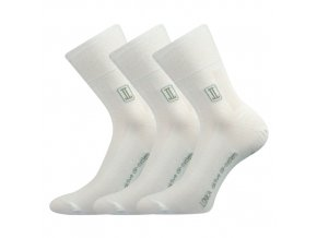 Zdravotní ponožky 3 kusy v balení Lonka Rocky bílá