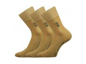 Zdravotní ponožky 3 kusy v balení Lonka Rocky béžová