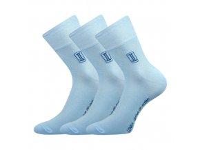 Zdravotní ponožky 3 kusy v balení Lonka Rocky světle modrá