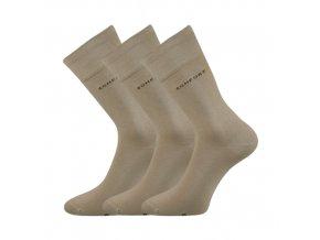 Společenské ponožky 3 kusy v balení Lonka Comfort béžová
