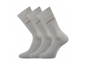 Společenské ponožky 3 kusy v balení Lonka Comfort světle šedá