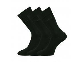Společenské ponožky 3 kusy v balení Lonka Comfort černá