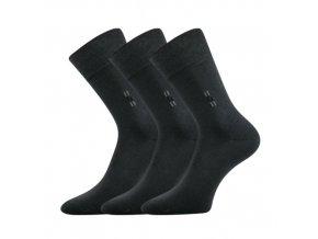 Společenské ponožky 3 kusy v balení Lonka Dalskon tmavě šedá