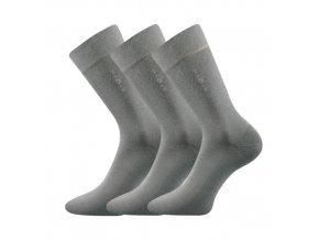Společenské ponožky 3 kusy v balení Lonka Daton šedá