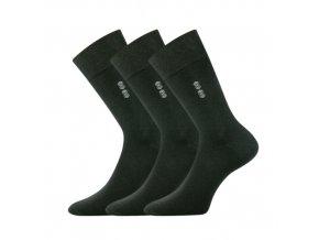 Společenské ponožky 3 kusy v balení Lonka Daton černá