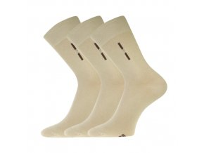 Společenské ponožky 3 kusy v balení Lonka David béžová