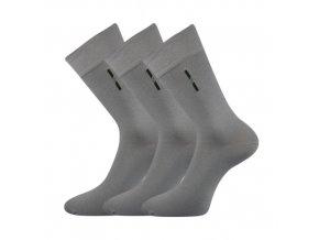 Společenské ponožky 3 kusy v balení Lonka David světle šedá