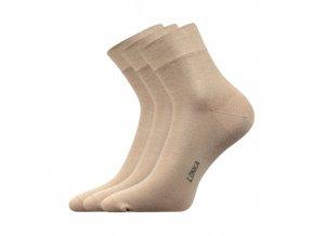 Společenské ponožky 3 kusy v balení Lonka Esot béžová