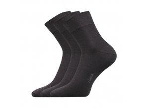 Společenské ponožky 3 kusy v balení Lonka Esot tmavě šedá
