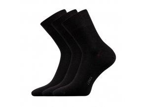 Společenské ponožky 3 kusy v balení Lonka Esot černá