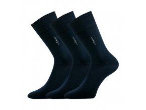 Společenské ponožky 3 kusy v balení Lonka Delavar tmavě modrá