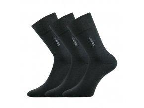 Společenské ponožky 3 kusy v balení Lonka Delavar tmavě šedá