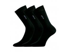 Společenské ponožky 3 kusy v balení Lonka Delavar černá