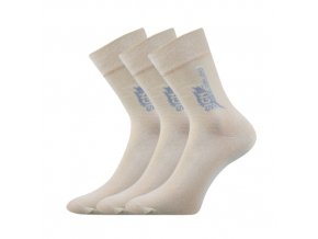 Společenské ponožky 3 kusy v balení Lonka Design béžová