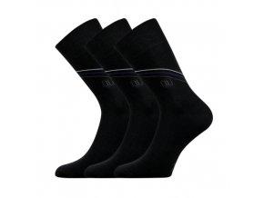 Společenské ponožky 3 kusy v balení Lonka Design černá