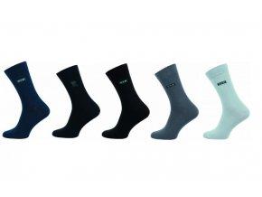 Pánské ponožky Novia 5 párů v balení Lycra VIP