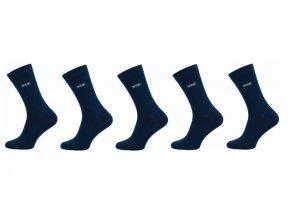 Pánské ponožky Novia 5 párů v balení Lycra VIP černé