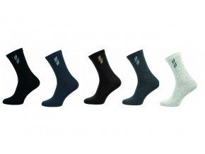 Pánské ponožky Novia 5 párů v balení abstraktní vzor