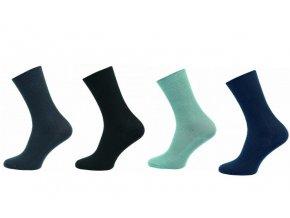 Zdravotní ponožky 4 páry v balení Novia Medik mix barev