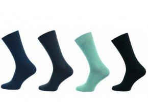 Zdravotní ponožky 4 páry v balení Novia klasik mix barev