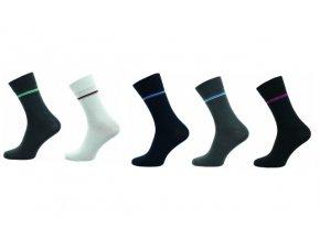 Pánské ponožky Novia 5 párů v balení Lycra pruh 10FE