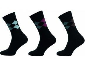 Pánské společenské ponožky Novia 3 páry v balení 173S