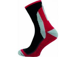 Sportovní Ponožky NOVIA Skate červenočerná