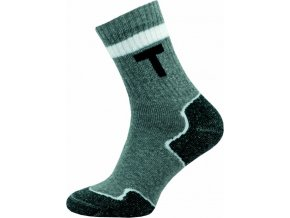 Thermo Ponožky NOVIA 100S šedé bílý použek