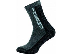 Thermo Ponožky NOVIA 100S šedé nápis thermo