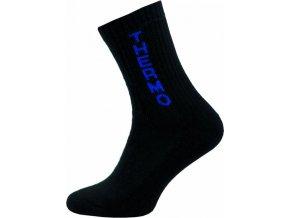 Thermo Ponožky NOVIA 100S černé modrý nápis thermo