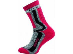 Sportovní Ponožky NOVIA Silvertex Thermo červené
