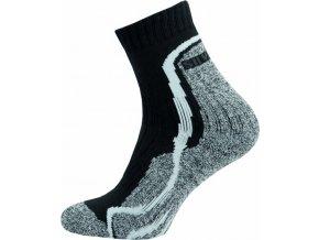 Thermo Ponožky NOVIA Silvertex Stripes bílé