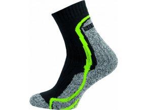 Thermo Ponožky NOVIA Silvertex Stripes zelené