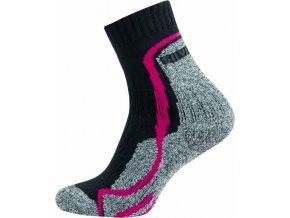 Thermo Ponožky NOVIA Silvertex Stripes červené