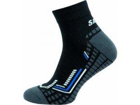 Sportovní Ponožky NOVIA Silvertex Fit šedé modrý pruh