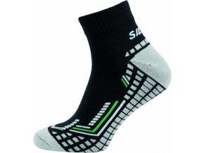 Sportovní Ponožky NOVIA Silvertex Fit černé zelený pruh