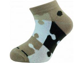 Dětské kotníkové ponožky Novia 127N 4 páry v balení mix vzorů puzzle1