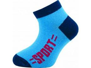 Dětské kotníkové ponožky Novia 128N 4 páry v balení mix vzorů sport1