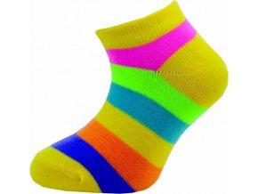 Dětské kotníkové ponožky Novia 205N 4 páry v balení mix vzorů pruhy1