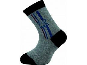 Dětské kotníkové ponožky Novia 136N 4 páry v balení mix vzorů1