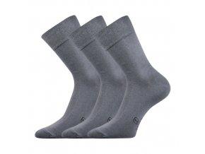 Společenské ponožky 3 kusy v balení Lonka Dasilver světle šedá